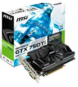MSI GeForce 750Ti-2GD5/OC Graphics Card