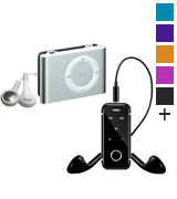 Lambent i6S MP3 player with Bluetooth Stereo Earphone Headset