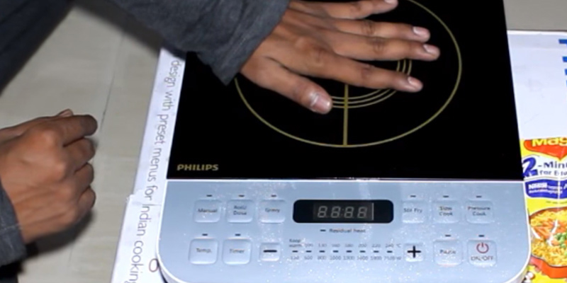 Philips HD4928/01 Induction Cooktop in the use