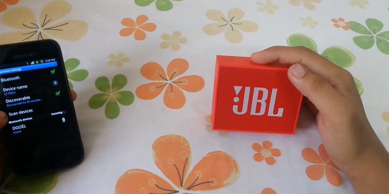 JBL Go Portable Wireless Bluetooth Speaker in the use